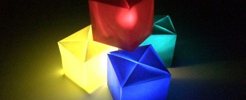 フジモトキューブで作る簡単インテリアライト