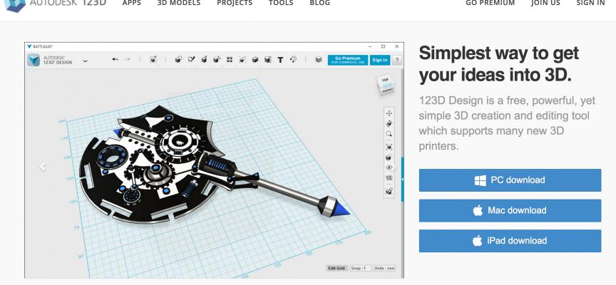 フリーの3D CADソフト「123D」