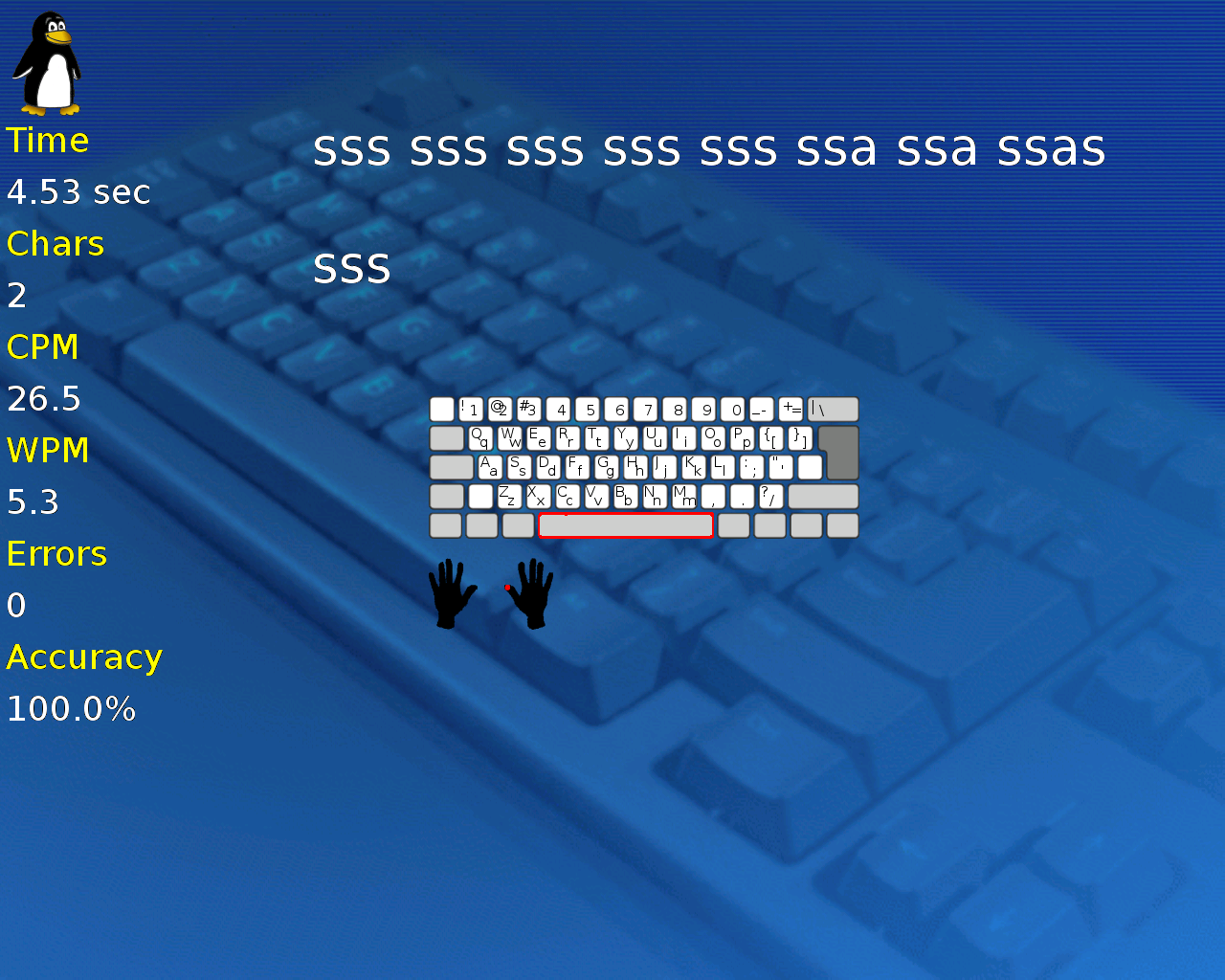 Tux Typing Fabshop