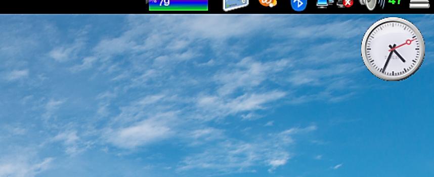 Screenletsでデスクトップに便利ツール!