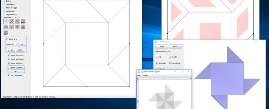 パソコンで折り紙の展開図を作成できるソフトウェア「ORIPA」