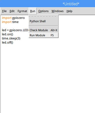 LED Raspberry Python Fabshop