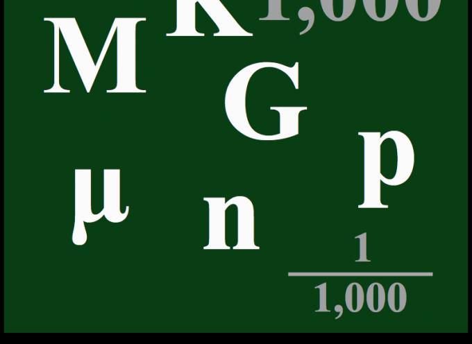 大きな数字や小さな数字を扱う時に使う補助単位を覚えておこう(SI単位系)