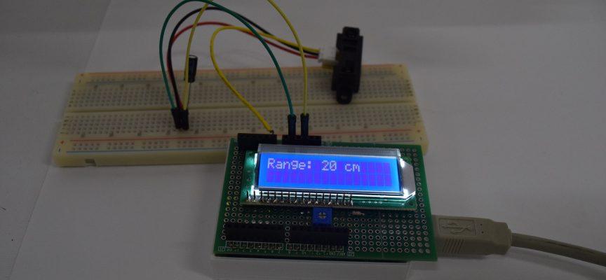 PSD測距センサで障害物との距離を測り、LCDに表示しよう