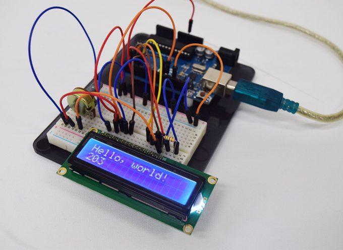 【初級~中級編】LCDと半固定抵抗器を使用して文字を表示してみよう
