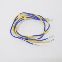 30cm ケーブル4本セット(青×2、黄色×2)外径2mm 末端被覆除去済み