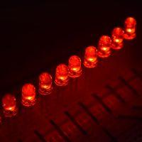 高輝度5mm赤色LED 1パック10個入り ラウンドトップLED