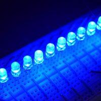 高輝度5mm青色LED 1パック10個入り ラウンドトップLED