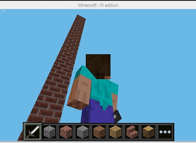 Scratch2MCPIでMinecraftを動かしてみよう!【 第5回 】ブロックの塔を建ててみた