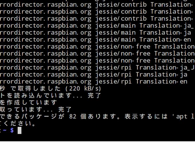 OSのアップデートとアップグレードを行う。