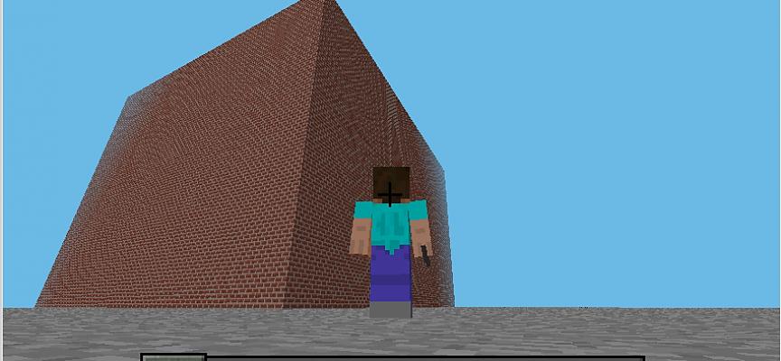 Scratch2MCPIでMinecraftを動かしてみよう!【 第7回 】巨大建造物(ブロックの箱)の築造