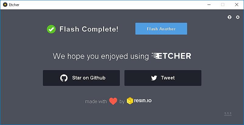 【STEP-04】EtcherでRaspbianのイメージをmicroSDカードに書き込み