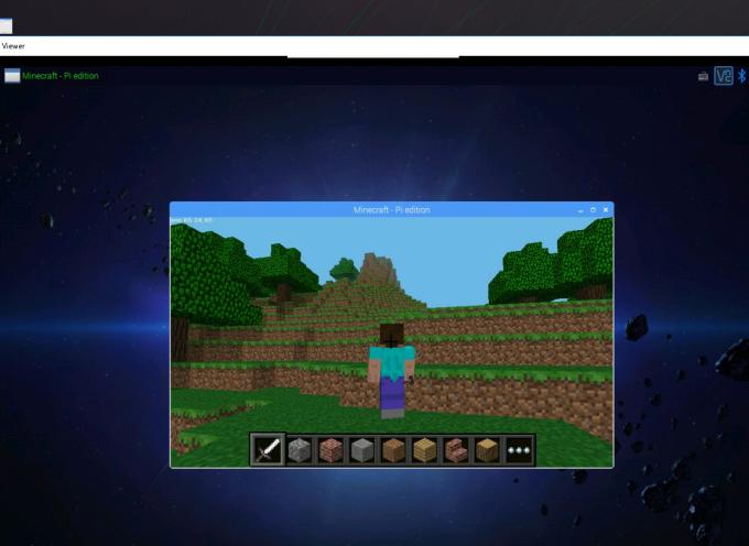 VNC有効で、MinecraftもPCから遠隔操作できるぞ!