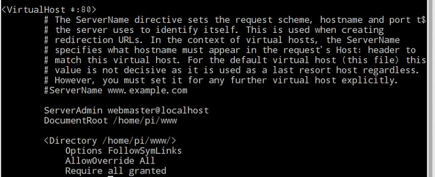 ラズパイでサーバー構築! Apache/設定編