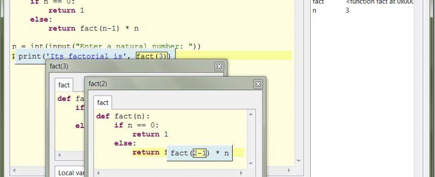 Pythonで書いたソースコードの実行の流れを実況中継してくれる初心者のための学習ツール「Thonny!」