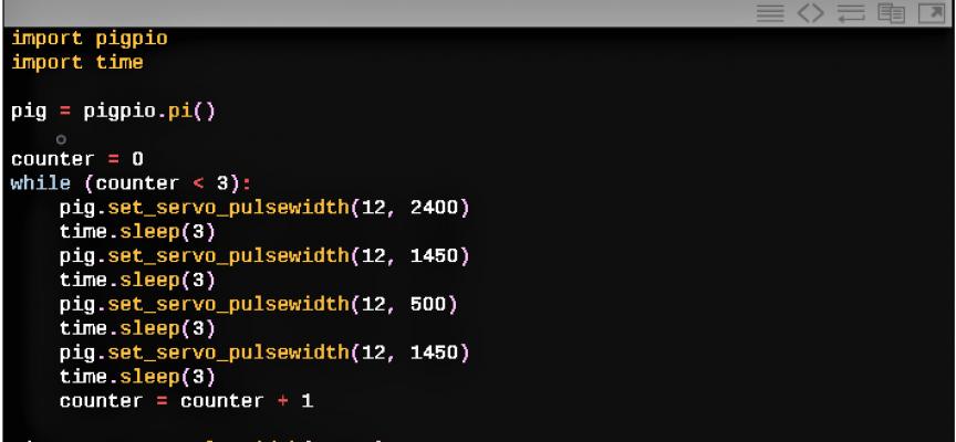 """【 第32回 】pigpioにはサーボモーター制御用のPWM発生関数""""servo_pulsewidth""""があった!"""