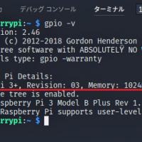 【STEP-33】WiringPiのgpioコマンドならハードウェア情報と製造元が同時に表示されます
