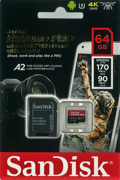 SanDisk Extreme PRO microSDXC A2 64GB
