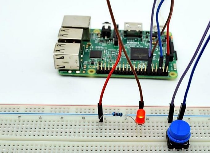 【Lesson3】タクトスイッチを使ったLEDのコントロール Controlling an LED with a button