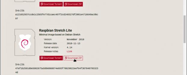【STEP-74】Raspbian Strech LiteのZIPファイルを解凍しながら、直接、microSDカードに書き込む