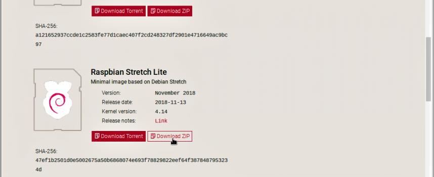 【STEP-74】MPDサーバーのOSはRaspbian Stretch Lite