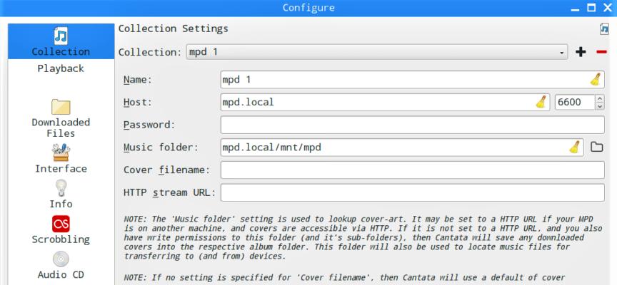 【STEP-95】MPDクライアントCantataからMPDサーバーに接続して楽曲再生