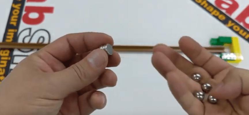 ガウス加速器の実験ーパチンコ玉とネオジム磁石ですごい加速!