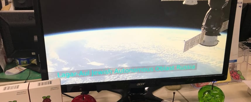 NASAからの情報をRaspberryPiに常時表示「ISS-Above」を作る!