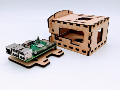 prototype computer case for raspberry pi