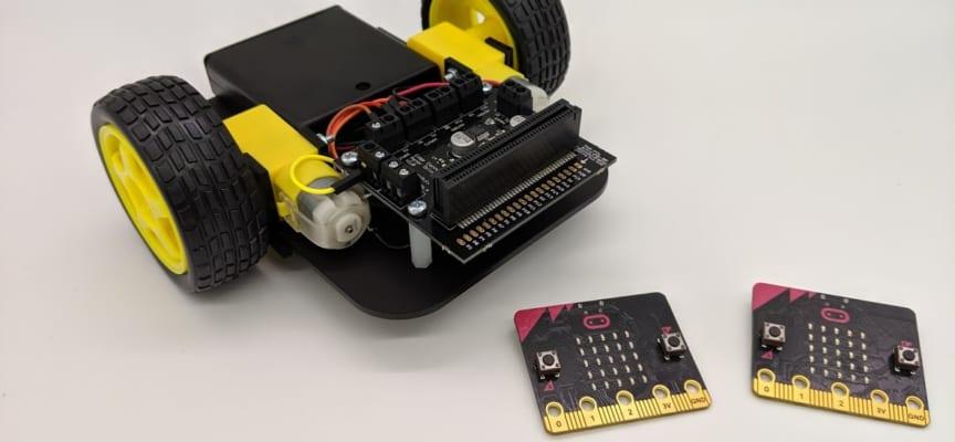 マイクロビットで作るリモートコントロールバギー(ボタン操作編)