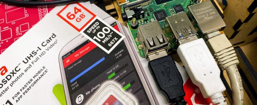 Raspberry Pi(ラズベリーパイ)で32GB以上のmicroSDを利用する場合の注意点
